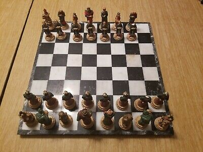 $13.45 • Buy Veronese Chessmen Set Chess 3  Pieces Hand Painted Skeleton Midevil Knights Rare