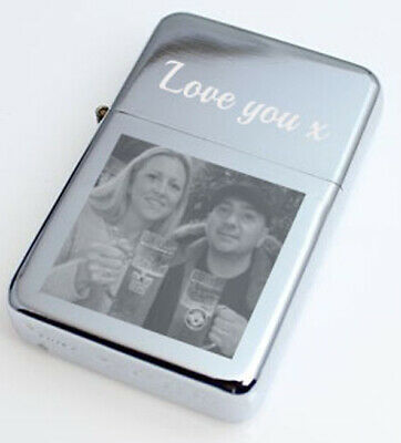 £10 • Buy Personalised Lighter Photo Logo Message Name Engraved Gift Birthday Christmas
