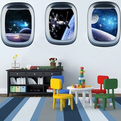 Star Space Ship Wall Stickers Scenic Living Room Decal 3D Art UK • 6.79£