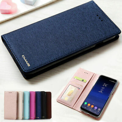 AU10.90 • Buy Luxury Slim Wallet Silk Leather Stand Flip Case Cover For Samsung Galaxy Phones