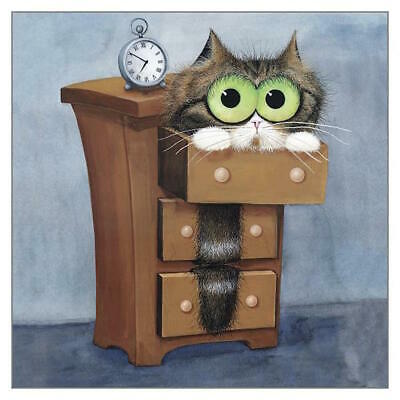 Archie Funny Cat Greeting Card Tamsin Lord Humorous Greetings Cards New Home • 3.50£