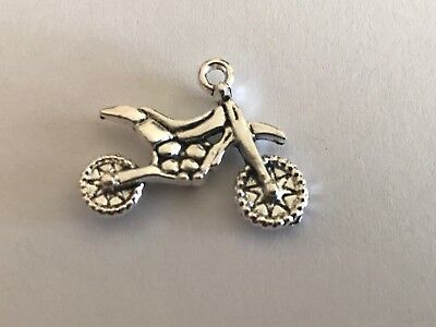 Tibetan Alloy Antique Silver Transport Charms Motorbikes Motor Bikes Motorcycles • 1.65£