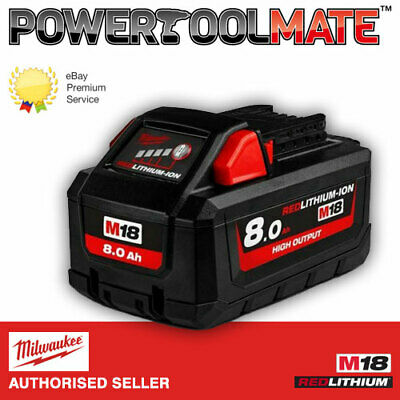 Milwaukee 18V M18HB8 High Output Battery • 123.99£