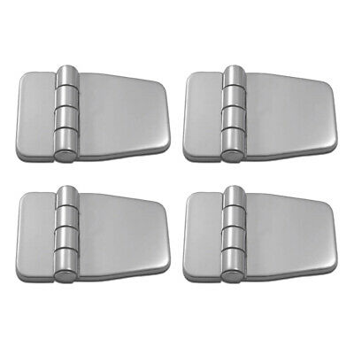 4Pcs Marine Boat Hinges Folding Stainless Door Cabinet Strap Hinges & Cover • 16.61£