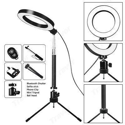 AU16.99 • Buy 8  Dimmable LED Ring Video Light Makeup Studio Photography Lighting Kit + Tripod