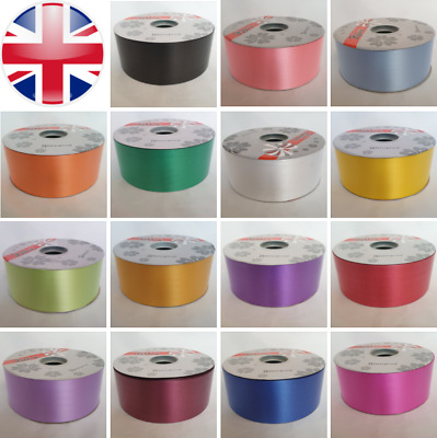 Poly Ribbon For Weddings Car Venue Florist Art Craft Gift Wrap Flowers  • 7.49£