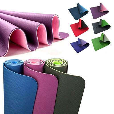 AU21.99 • Buy TPE Yoga Mat Eco Friendly Exercise Fitness Gym Pilates Non Slip Dual Layer AU