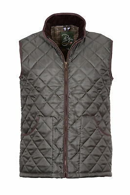 £28.99 • Buy Men's Country Quilted Waistcoat Olive Shooting Hunting Gilet Bodywarmer Rydale