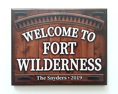 $49.95 • Buy Welcome To FORT WILDERNESS ~ Wood Sign Disney World Custom Reproduction 8  X 10