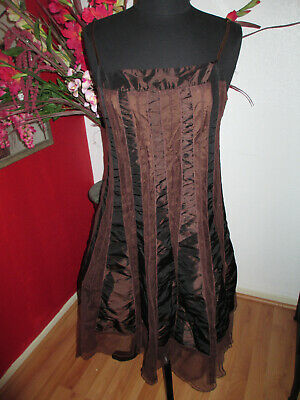 $ CDN51.63 • Buy Ariella Brown Cocktail Dress With Netting Size Large