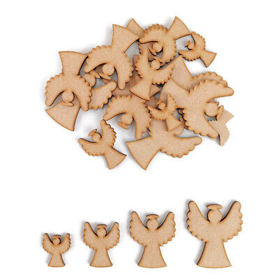 Christmas Angel MDF Craft Shape Wooden Blank Gift Tags Decoration Embellishment • 2.15£