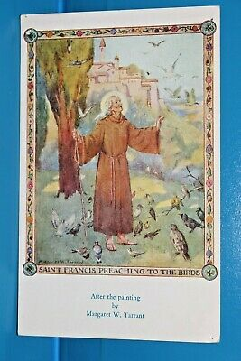 Postcard Margaret W Tarrant  St Francis Preaching To The Birds Religion 117 • 11.99£