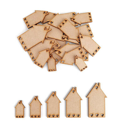 £2.45 • Buy House MDF Craft Shapes Wooden Blank Decoration Embellishment Heart New Home Gift
