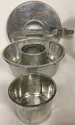 Hilfix Dbgm Vintage Tinned Steel 3 Piece Rice Mold W Cup Reiskochform W.germany • 7.24£
