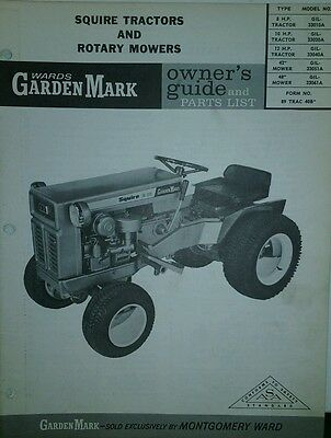 AU106.76 • Buy Wards Garden Mark Lawn Tractor & Implements Owner & Parts (2 Manuals) GIL-33010A