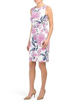 $ CDN74.69 • Buy NEW   Ivanka Trump  Floral Print Starburst Dress Ivory Dahlia Size 8