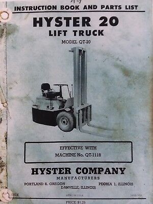 hyster forklift manual on
