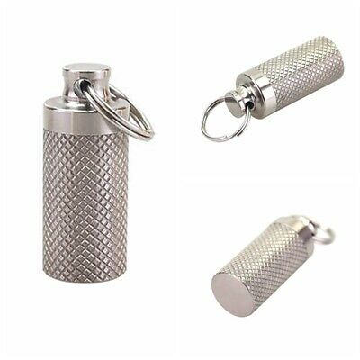 $9.26 • Buy Waterproof Pill Box Case Holder Container Metal Capsule Bottle Keychain Travel