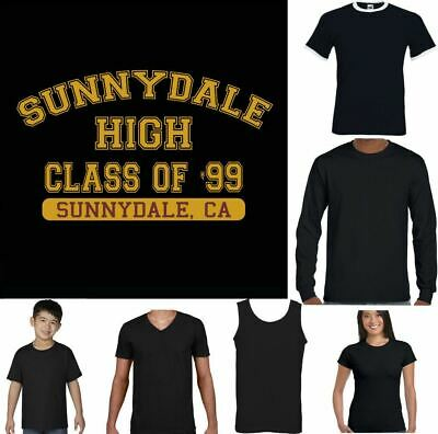 £12.99 • Buy Sunnydale High T-Shirt Buffy The Vampire Slayer Class Of '99 Funny Inspired
