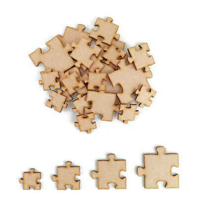£2.95 • Buy Puzzle Piece MDF Craft Shapes Wooden Blank Wedding Embellishment Jigsaw Pack