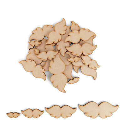 £2.45 • Buy Angel Wings MDF Craft Shapes Wooden Blank Decoration Embellishments Christmas