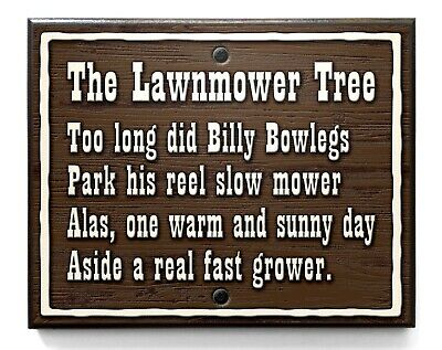 $49.95 • Buy Fort Wilderness LAWNMOWER TREE Wood Sign Disney World Reproduction 8  X 10