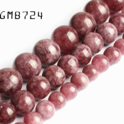 $2.79 • Buy Natural Purple Lepidolite Stone Round Beads For Jewelry Making 15'' 6/8/10mm