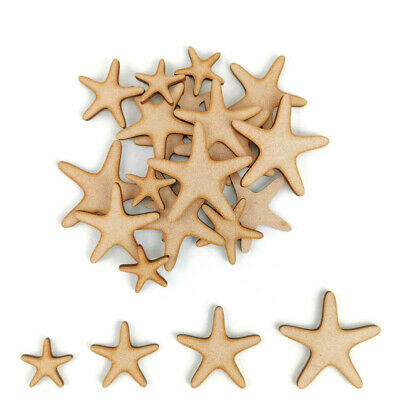 Starfish MDF Craft Shape Wooden Blank Decoration Embellishment Sea Star Aquarium • 1.85£