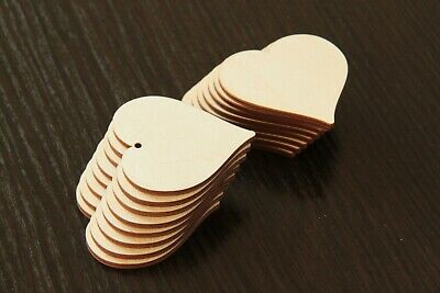 Wooden LOVE HEARTS Craft Hanging Shape Gift Tag Wedding Decoration Embellishment • 6£