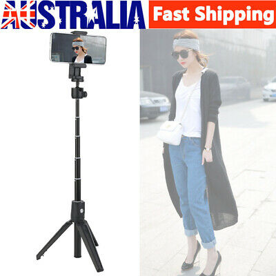 AU16.89 • Buy New 2 In 1 Selfie Stick Tripod Stand+Remote Control For Android IOS Mobile Phone