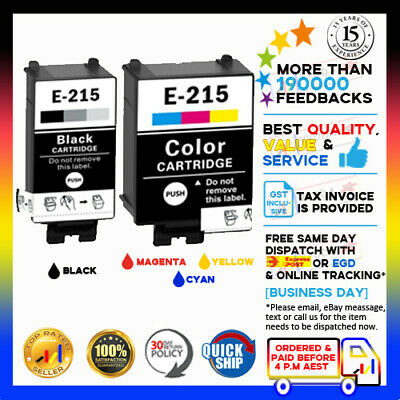 AU19.75 • Buy 2pcs NonOEM YYUDA 215BK 215C Ink Cartridges For Epson WorkForce WF-100 Printer