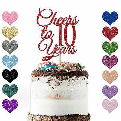£2.98 • Buy Personalise Any Year Wedding Anniversary Cake Topper Decoration 10th 20 30 40 50