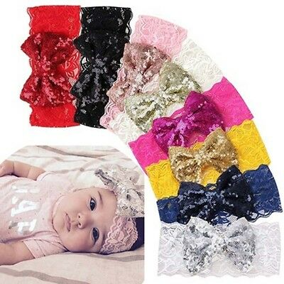 $ CDN3.51 • Buy Lace Bow Flower Headband Hair Band Accessories For Kids Girl Baby Toddler AA3