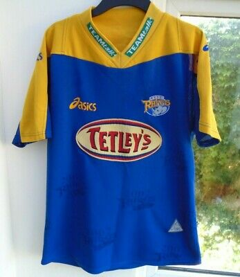 LEEDS RHINOS 2002 HOME Asics RUGBY LEAGUE SHIRT JERSEY TOP SMALL ADULT  • 14.99£
