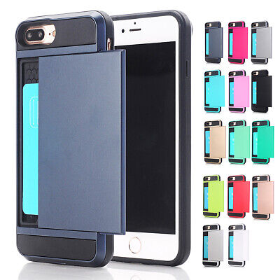 AU8.99 • Buy Hybrid Card Holder Case Cover For IPhone 11 PRO XS MAX XR X 8 Plus 7 6S 6 A106