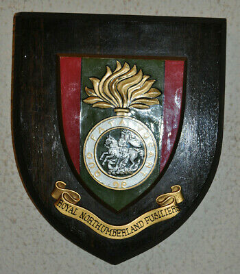 Royal Northumberland Fusiliers Regimental Mess Wall Plaque Shield • 30£