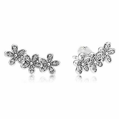 AU59.99 • Buy PANDORA EARRINGS Sterling Silver ALE S925  DAZZLING DAISIES STUDS  290744CZ