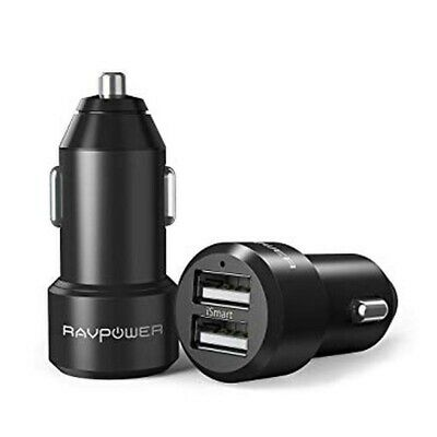 AU29.83 • Buy RAVPower Dual-USB Car Charger 24W 4.8A Metal Dual Adapter ISmart RP-VC006