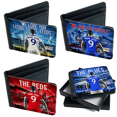 Football Wallet Mens Bi Fold Coin Card Holder Personalised Gift - All Teams AF • 12.95£