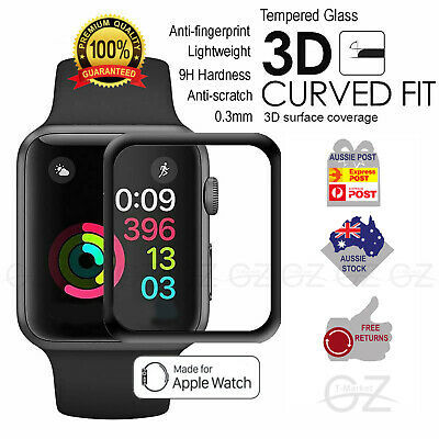 AU6.85 • Buy Apple Watch Series  1 2 3 4 5 38/40/42/44mm Tempered Glass Screen Protector