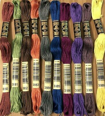 AU1 • Buy 1 X DMC SKEIN Stranded Cotton Thread - Cross Stitch NUMBER RANGE  3880 - 3889