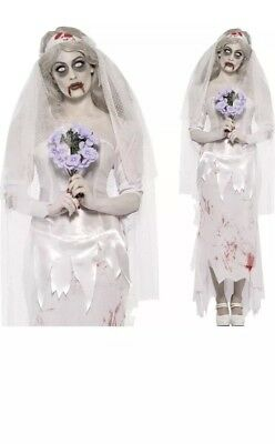Ladies Zombie Bride Costume Halloween Fancy Dress RRP £44.99 Size Large • 22.99£