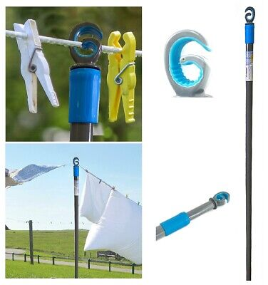 £9.89 • Buy 2.4m Galvanised Washing Line Prop Outdoor Extendable Heavy Duty Line Support Rod