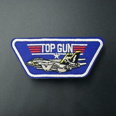 £2.02 • Buy Top Gun Iron Sew On Patch Fancy Dress Badge Embroidered Diy Clothes Transfer
