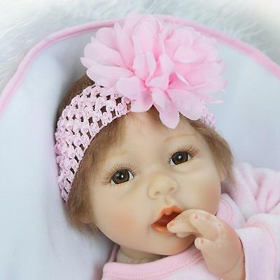 $ CDN55.56 • Buy Reborn Baby Dolls 22  Silicone Vinyl Lifelike Educational Toy Cloth Body
