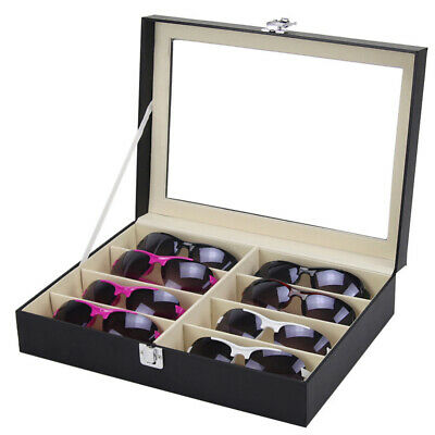 AU20.99 • Buy Sunglasses Eyeglasses Glass Jewelry Display Box Case Storage Organizer 8 Slots