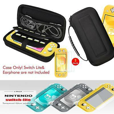 Nintendo Switch Lite Carrying Case Hard Portable Travel Bag +3PCS Tempered Glass • 12.98$