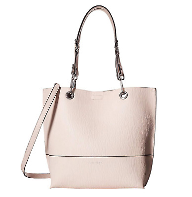 CALVIN KLEIN Sonoma Reversible Tote With Pouch In Powder Pink/Wheat/Silver • 53.65£