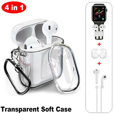 AU5.26 • Buy Transparent Case Kits Soft Cover For Apple AirPods 2 1 Charging Case Accessories