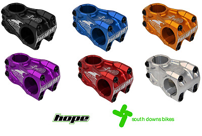 $124.07 • Buy Hope DH Stem | 0 Degree Rise | 50mm | All Colours | Downhill | T6 Aluminium
